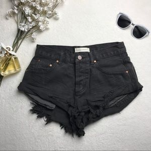 Vintage Distressed Denim Shorts